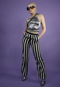 Monochrome stripe trousers