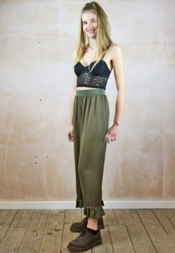 Green Silky trousers $42. 73